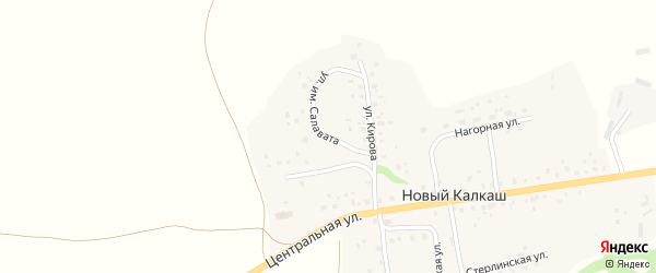Улица Им Салавата на карте деревни Нового Калкаша с номерами домов