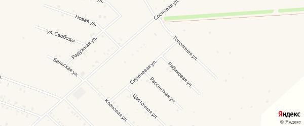 Сиреневая улица на карте села Бураево с номерами домов