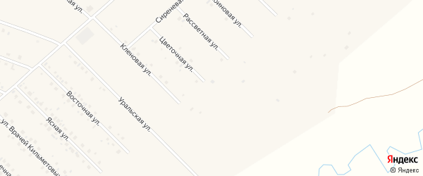 Цветочная улица на карте села Бураево с номерами домов