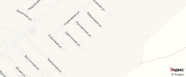 Рассветная улица на карте села Бураево с номерами домов
