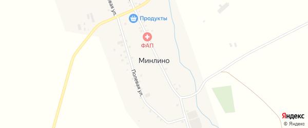 Габдуллы Тукая улица на карте деревни Минлино с номерами домов