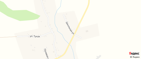 Школьная улица на карте деревни Минлино с номерами домов