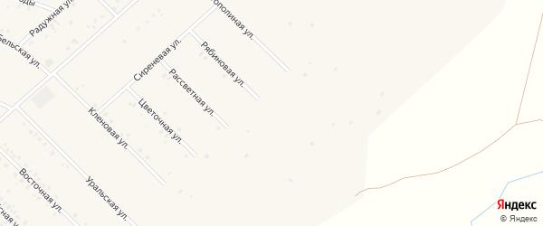 Рябиновая улица на карте села Бураево с номерами домов