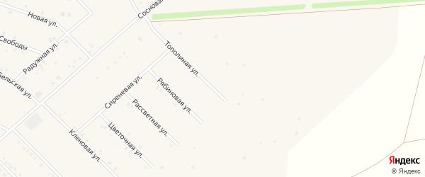 Тополиная улица на карте села Бураево с номерами домов