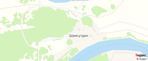 Приозерная улица на карте деревни Шамсутдина с номерами домов