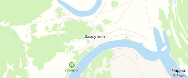 Карта деревни Шамсутдина в Башкортостане с улицами и номерами домов