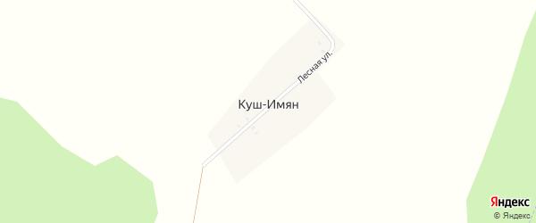Лесная улица на карте деревни Куша-Имяна с номерами домов
