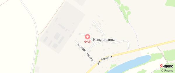 Школьная улица на карте деревни Кандаковки с номерами домов