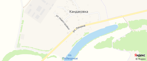 Улица Ленина на карте деревни Кандаковки с номерами домов