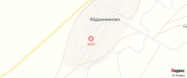 Центральная улица на карте деревни Абдрахманово с номерами домов
