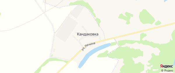 Карта деревни Кандаковки в Башкортостане с улицами и номерами домов