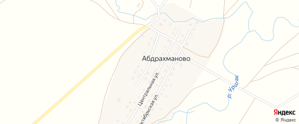 Улица Матросова на карте деревни Абдрахманово с номерами домов