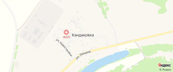 Совхозная улица на карте деревни Кандаковки с номерами домов