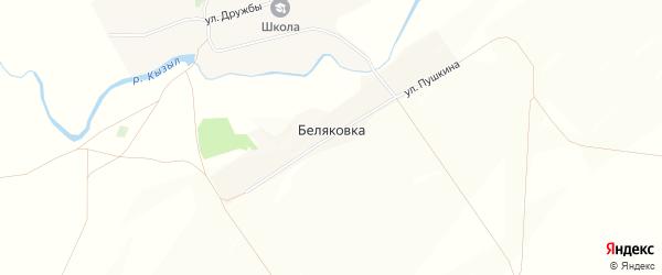 Карта деревни Беляковки в Башкортостане с улицами и номерами домов
