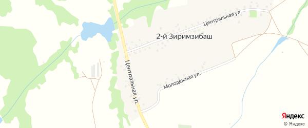 Молодежная улица на карте деревни 2-й Зиримзибаша с номерами домов