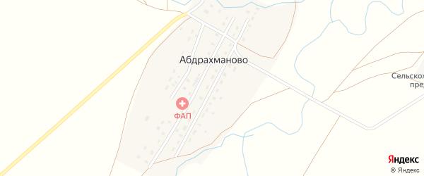 Октябрьская улица на карте деревни Абдрахманово с номерами домов