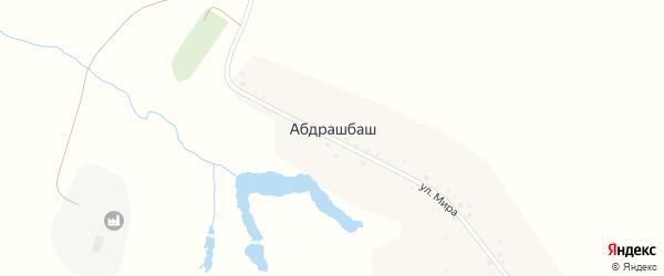 Улица Мира на карте деревни Абдрашбаша с номерами домов