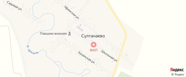 Парковая улица на карте села Султанаево с номерами домов