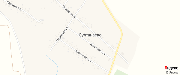 Казанская улица на карте села Султанаево с номерами домов