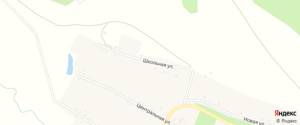 Школьная улица на карте деревни Абраево с номерами домов