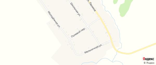 Полевой переулок на карте деревни Тынбаево с номерами домов