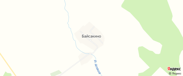 Карта деревни Байсакино в Башкортостане с улицами и номерами домов