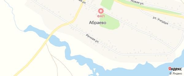 Речная улица на карте деревни Абраево с номерами домов