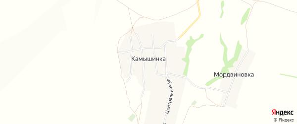 Карта села Камышинки в Башкортостане с улицами и номерами домов