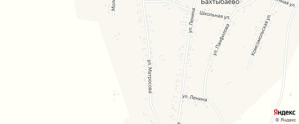 Улица Матросова на карте села Бахтыбаево с номерами домов