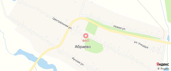 Центральная улица на карте деревни Абраево с номерами домов
