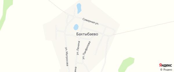 Карта села Бахтыбаево в Башкортостане с улицами и номерами домов