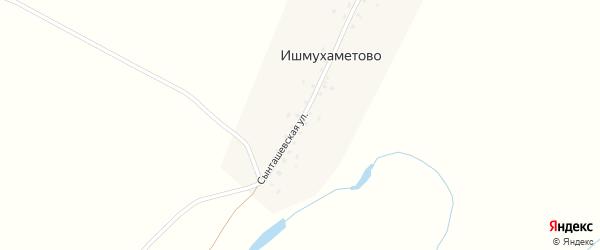 Сынташевская улица на карте деревни Ишмухаметово с номерами домов