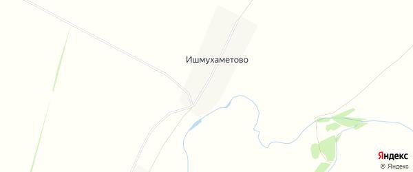 Карта деревни Ишмухаметово в Башкортостане с улицами и номерами домов