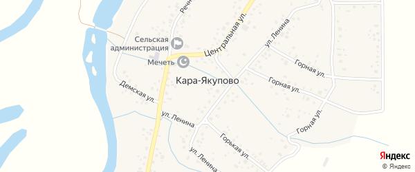 Лесная улица на карте села Кара-Якупово с номерами домов
