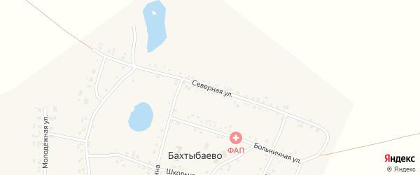 Северная улица на карте села Бахтыбаево с номерами домов