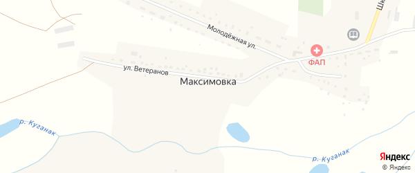 Школьная улица на карте деревни Максимовки с номерами домов