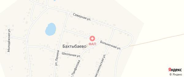 Больничная улица на карте села Бахтыбаево с номерами домов