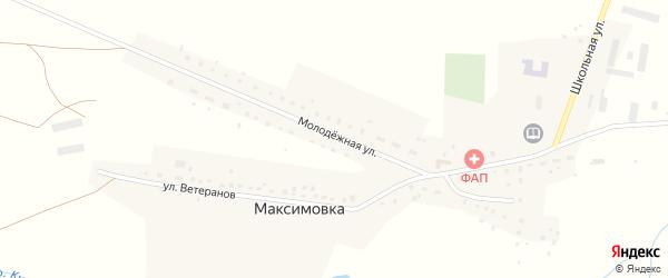 Молодёжная улица на карте деревни Максимовки с номерами домов
