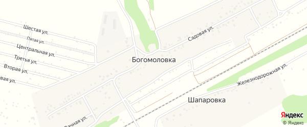 Садовая улица на карте деревни Богомоловки с номерами домов
