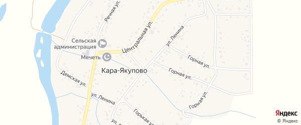 Улица Ленина на карте села Кара-Якупово с номерами домов