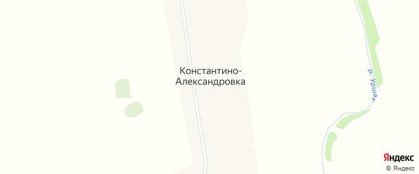 Набережная улица на карте деревни Константино-Александровки с номерами домов