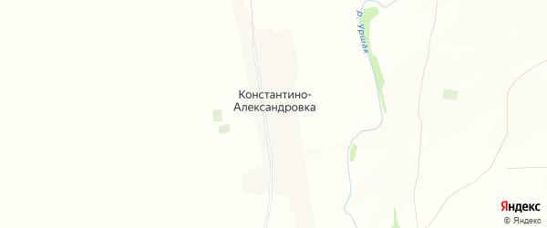 Карта деревни Константино-Александровки в Башкортостане с улицами и номерами домов