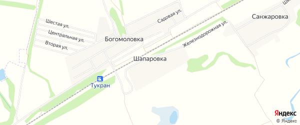 Карта деревни Шапаровки в Башкортостане с улицами и номерами домов
