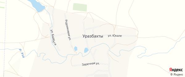 СТ СНО Пчелка на карте села Уразбахтов с номерами домов