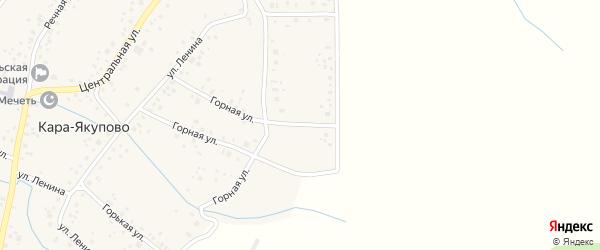 Молодежная улица на карте села Кара-Якупово с номерами домов