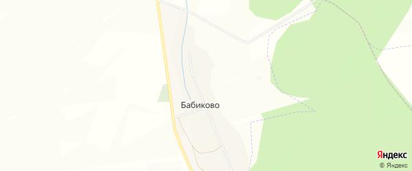 Карта деревни Бабиково в Башкортостане с улицами и номерами домов