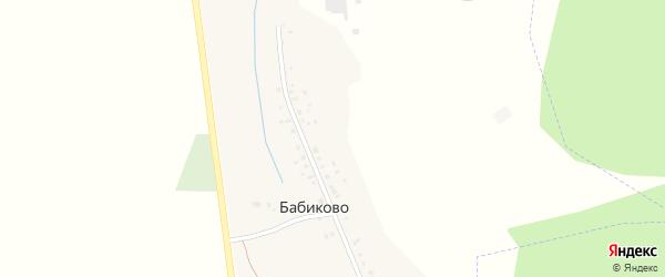 Шоссейная улица на карте деревни Бабиково с номерами домов