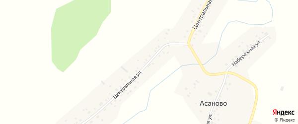 Центральная улица на карте села Асаново с номерами домов