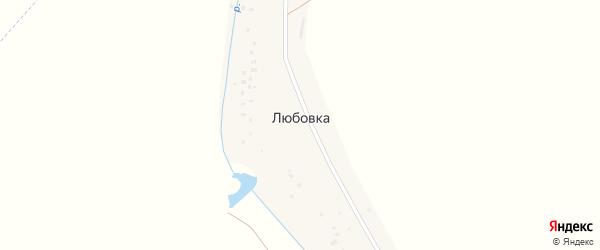 Центральная улица на карте деревни Любовки с номерами домов