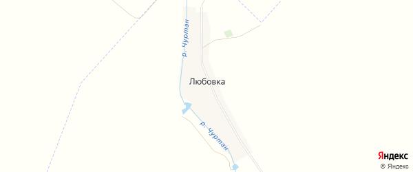 Карта деревни Любовки в Башкортостане с улицами и номерами домов